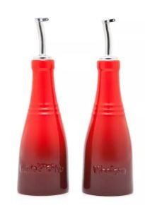 Conjunto Galheteiro Óleo e Vinagre de Cerâmica Vermelho - Le Creuset