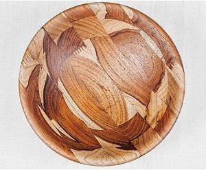 Bowl torneado à mão ,Madeira Teca  - ARZ Home Design
