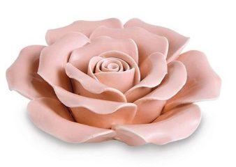 Flor Rosa em cerâmica Mart -9,5x9,5x4,5 cm