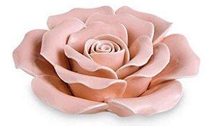 Flor Rosa Em Cerâmica Mart-10 x 10 x 3.5 cm