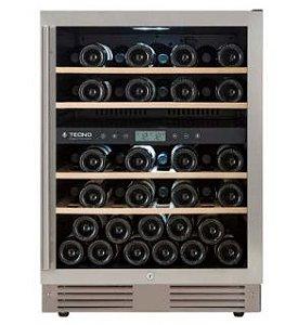 Adega de 136 litros, 43 garrafas, piso ou embutir, Dual Zone, Inox, 220V, Professional - Tecno