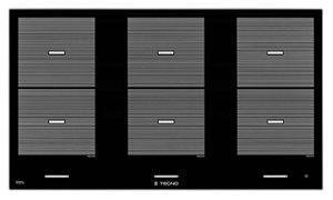 Fogão de mesa Indução - 90 cm - Seis Zonas com Bridge (extensão das zonas de aquecimento) - Tecno