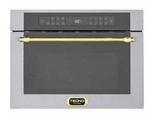 Forno combinado Vintage (micro-ondas + Convecção) de embutir, 38 litros, com grill, inox - Tecno