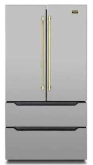 Refrigerador French door, 636 litros, ICE MAKER,  piso ou embutido, 2 gavetas freezer, Inverter, 127V Vintage - Tecno