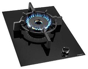 Fogão de mesa a gás vitrocerâmico,1 queimador profissional Super Dual Flame de 8 Kw - Tecno