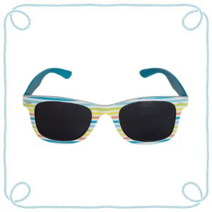 Óculos de sol infantil listrado