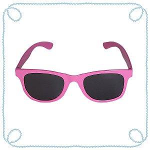 Óculos de sol infantil rosa (quadrado)