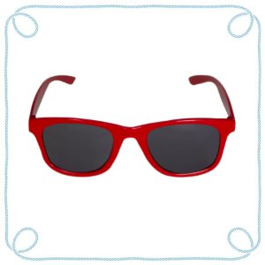 Óculos de sol infantil vermelho