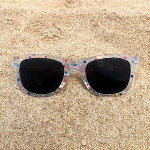 Óculos de sol infantil bolinhas