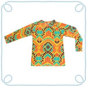 Camiseta Étnico - manga longa