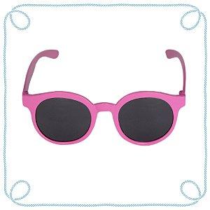 Óculos de sol infantil rosa (redondo)