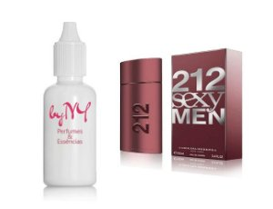 Essência Importada Masculina Inspirada 212 Sexy Men Carolina Herrera