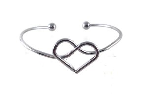 f70fbd3c8 Bracelete Heart Prata - Wish Bijoux| Bijuterias e Acessórios - Wish ...