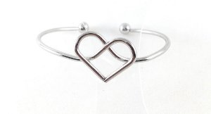 47af7b65c Bracelete Heart Prata - Wish Bijoux| Bijuterias e Acessórios - Wish Bijoux  - Loja Online de Bijuterias | Comprar Bijuterias Online -Atacado e Varejo