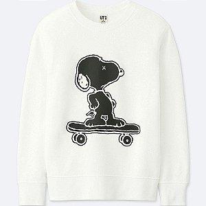 UNIQLO x Kaws x Peanuts - Moletom Kids Snoopy (Branco)