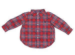 RALPH LAUREN - Camisa Xadrez Vermelha