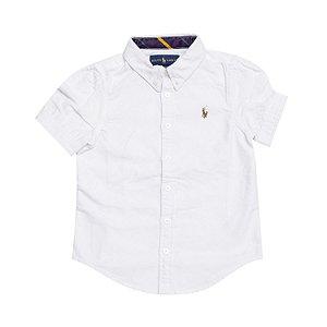 RALPH LAUREN - Camisa Feminina Oxford Branca
