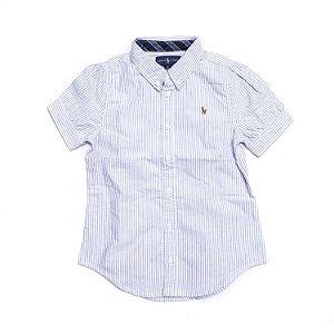 RALPH LAUREN - Camisa Feminina Oxford Listrada