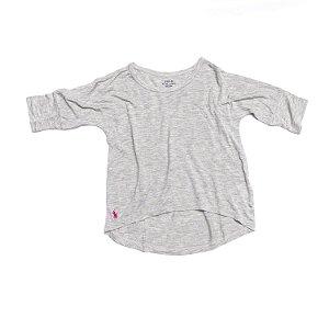 RALPH LAUREN - Camiseta Meia Manga Cinza