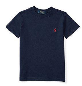 RALPH LAUREN - Camiseta Jersey Crewneck Baby Marinho