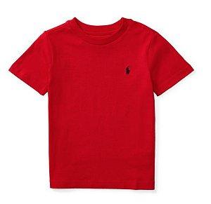 RALPH LAUREN - Camiseta Jersey Crewneck Baby Vermelha