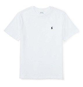 RALPH LAUREN - Camiseta Jersey Crewneck Infantil Branca