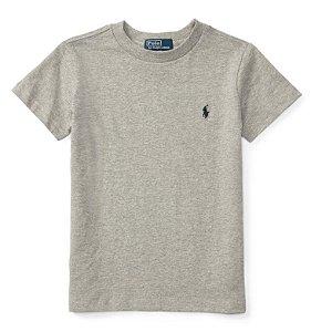 RALPH LAUREN - Camiseta Jersey Crewneck Juvenil Cinza