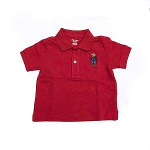 RALPH LAUREN - Camisa Polo Bear Baby Vermelha
