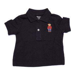 RALPH LAUREN - Camisa Polo Bear Baby Preta