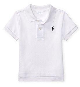 RALPH LAUREN - Camisa Polo Baby Branca