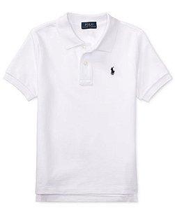 RALPH LAUREN - Camisa Polo Kids Branca