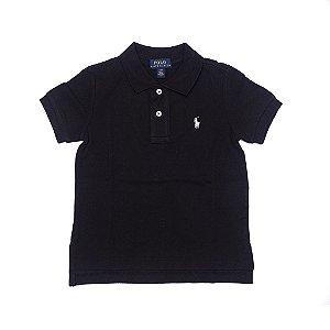 RALPH LAUREN - Camisa Polo Kids Preta