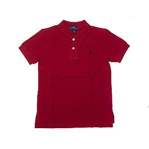 RALPH LAUREN - Camisa Polo Kids Vermelha