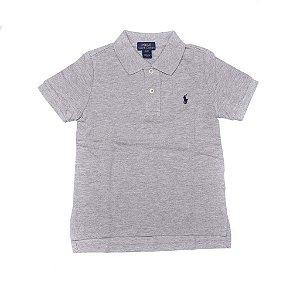 RALPH LAUREN - Camisa Polo Kids Cinza