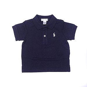 RALPH LAUREN - Camisa Polo Baby Marinho