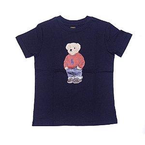 RALPH LAUREN - Camiseta Polo Bear Baby Marinho