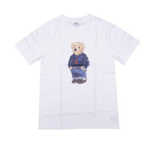 RALPH LAUREN - Camiseta Polo Bear Juvenil Branca
