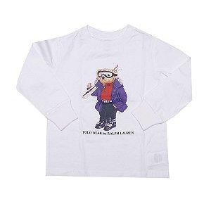 RALPH LAUREN - Camiseta Polo Bear Manga Longa Ski