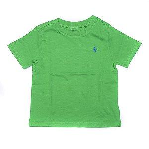 RALPH LAUREN - Camiseta Jersey Crewneck Baby Verde