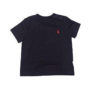 RALPH LAUREN - Camiseta Jersey Crewneck Baby Preta