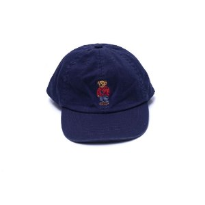 RALPH LAUREN - Boné Cotton Polo Bear Navy