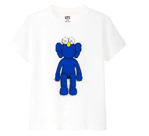 "UNIQLO X KAWS X SESAME - Camiseta Blue BFF ""White"""
