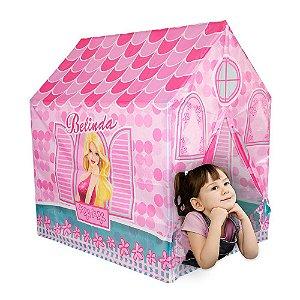 Barraca Casinha da Belinda Infantil Menina Toca Tenda Cabana Rosa DM Toys