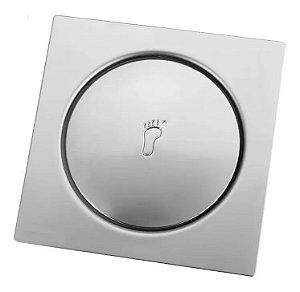 Ralo Click Inteligente Bestfer em Aço Inox Quadrado Para Banheiro