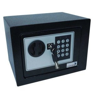 Cofre de Segurança Digital Safe e Eletrônico com Senha e Chave de Aço 23x17cm