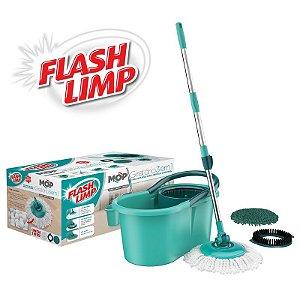 MOP 3 Em 1 Flash Limp Giratório Limpeza Pesada Tira Pó Spin
