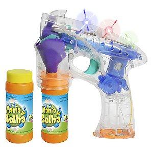 Lançador Mania de Bolhas de Sabão Cristal com Luzes DM Toys