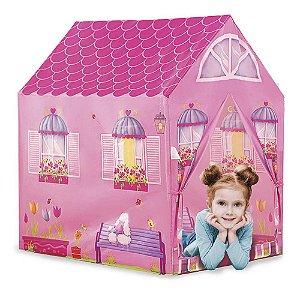 Barraca Minha Casinha Tenda Cabana Infantil Menina Rosa Toca Dm Toys