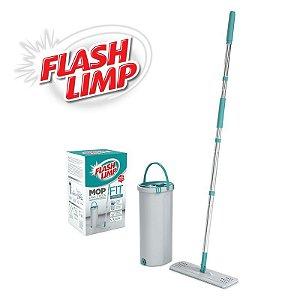 Mop Lava e Seca FIT Com Balde Esfregão Microfibra Flash Limp MOP6088