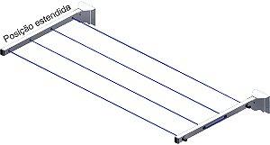 Varal de Roupas Retrátil de Parede Recolhível Dobrável até 16 metros VAR-4000-W Avatron